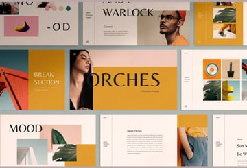 Orches fun Google Slide templates