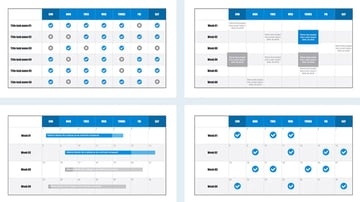 Gantt PowerPoint calendar template