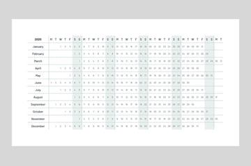 Simple PowerPoint calendar template