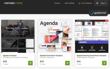 GraphicRiver PowerPoint agenda PPT slide design template