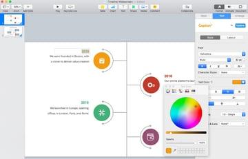 Step 3 timeline template for Keynote