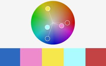 Colors color wheel PowerPoint templates