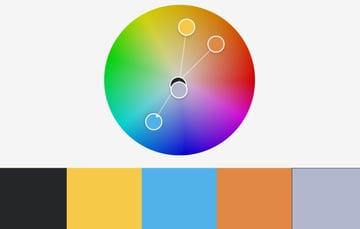 Colors PowerPoint template color palette