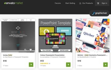 GraphicRiver PowerPoint template color palette