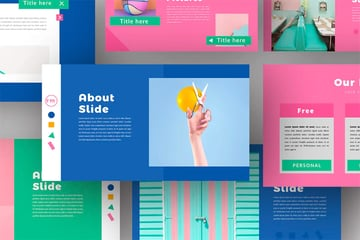 Intro PowerPoint template color palette