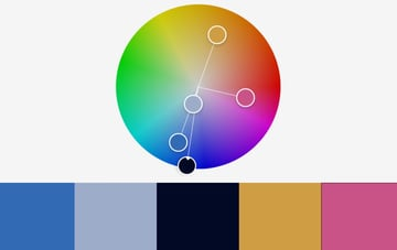 Colors massive rainbow PowerPoint template