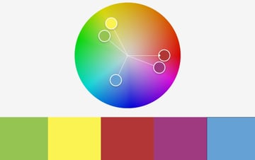 Colors radial free PowerPoint background