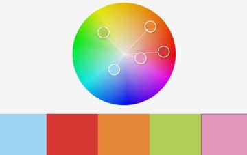 Colors sky rainbow PowerPoint template
