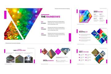 Intro rainbow PowerPoint background