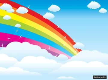 Sky rainbow PowerPoint template