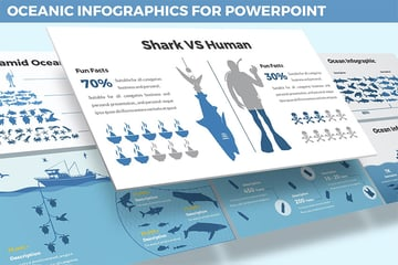 Infographic water PowerPoint background
