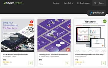 GraphicRiver purple PowerPoint presentation background