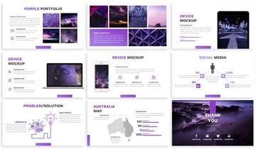 infographic purple theme