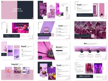 Intro purple PowerPoint presentation background