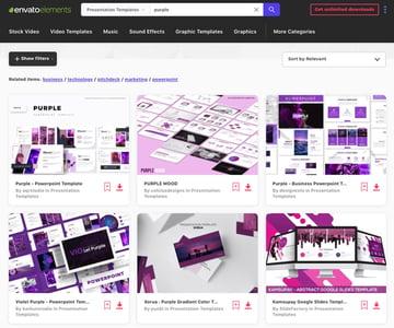 PowerPoint purple slides