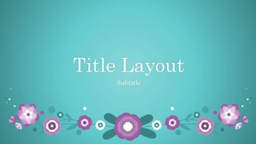Powerpoint purple template