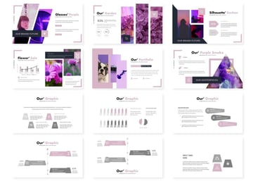 Premium purple slides