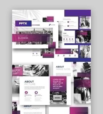 Purple PowerPoint presentation background