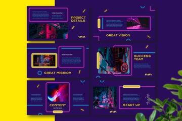Image neon theme