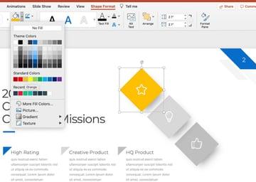 Shapes unique topics for presentation
