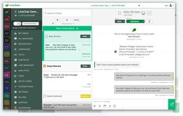 Avochato message application software
