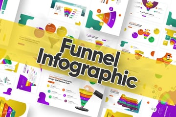 Colorful funnel chart PowerPoint