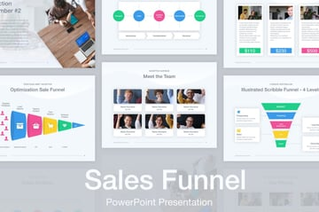 Process funnel graphic PowerPoint