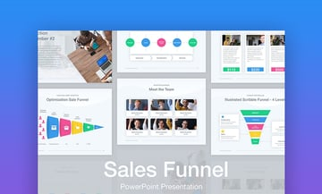 Sales funnel graphic PowerPoint