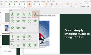 Animated motivational presentation PPT