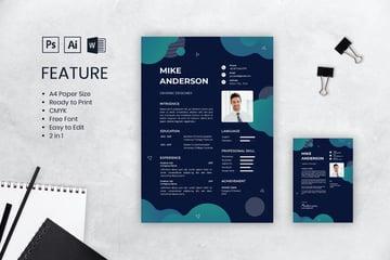 Skillset modern resume template