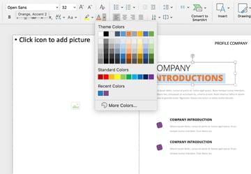 Font company profile presentation