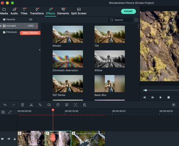 How to use Filmora video effects