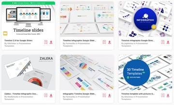 Elements timeline Google Slides