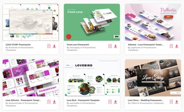 Elements love PowerPoint template