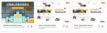Elements whiteboard PowerPoint template