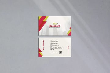 The breakart business card