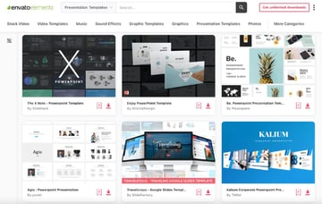 Elements template for PowerPoint online