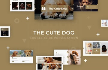 Cute dog aesthetic Google Slides themes