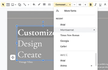 Fonts Google Slides templates aesthetic