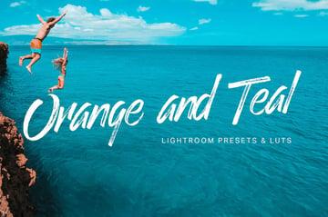 Orange teal Lightroom presets
