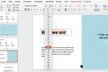 Custom fonts how to give a good presentation