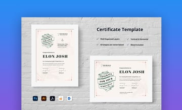 Certificate word save as a template