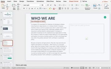 Text edit professional PowerPoint presentation