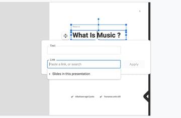 Add Google Slides background music