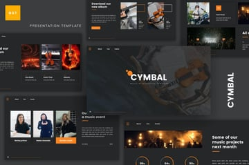 Cymbal music presentation template