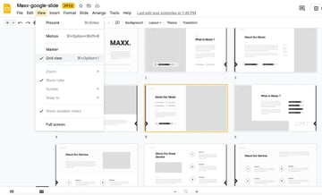 Google Slides background music