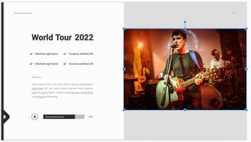 Photo music presentation template
