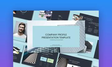 Company profile design PPT template