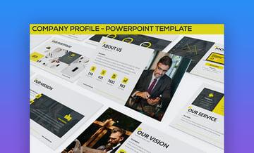Company profile format PPT design