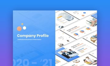 Creative company profile PPT template